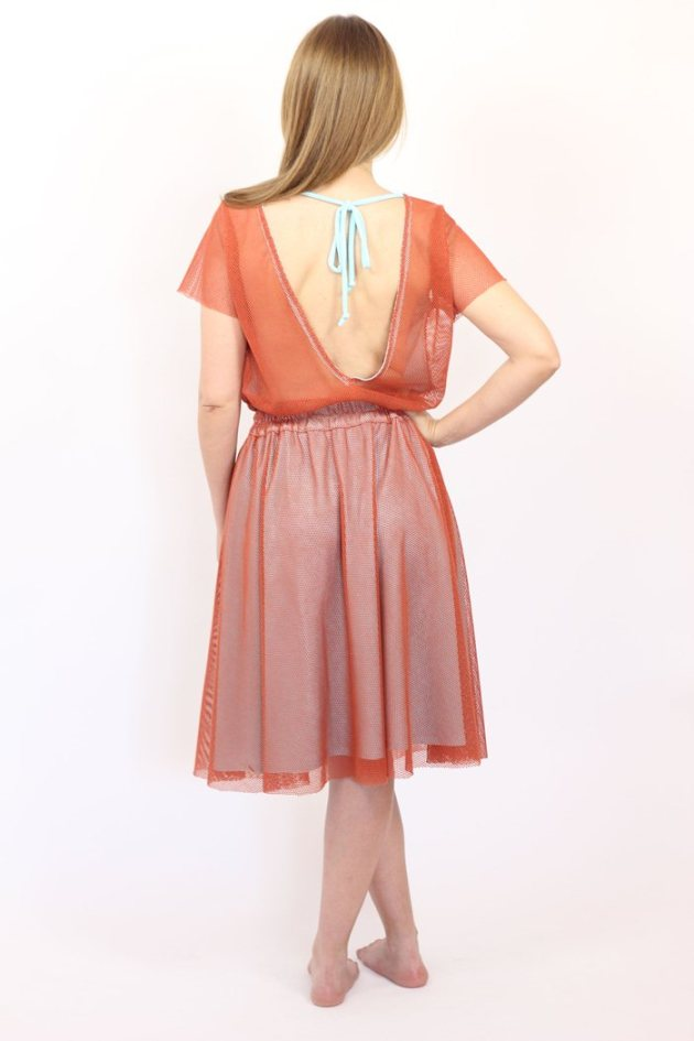 orange-grid-fabric-dress-guillerminaferrerdesign